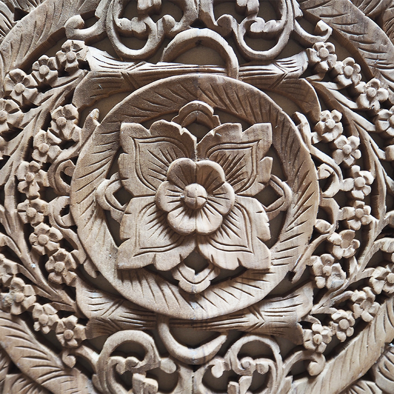 Buy Thai Wood Carving Wall Art Panel Asian Home Decor Online