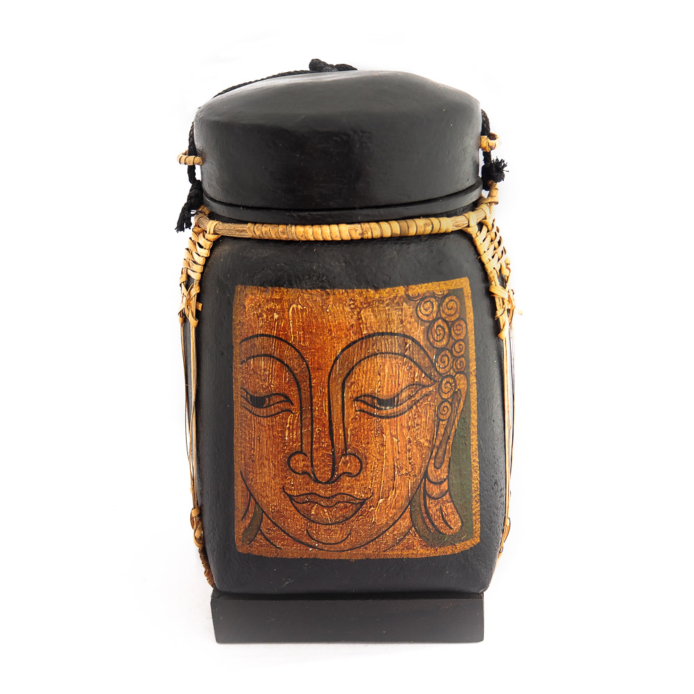 Thai rice box 441 - Thai Rice Box with Blessing Buddha Portrait