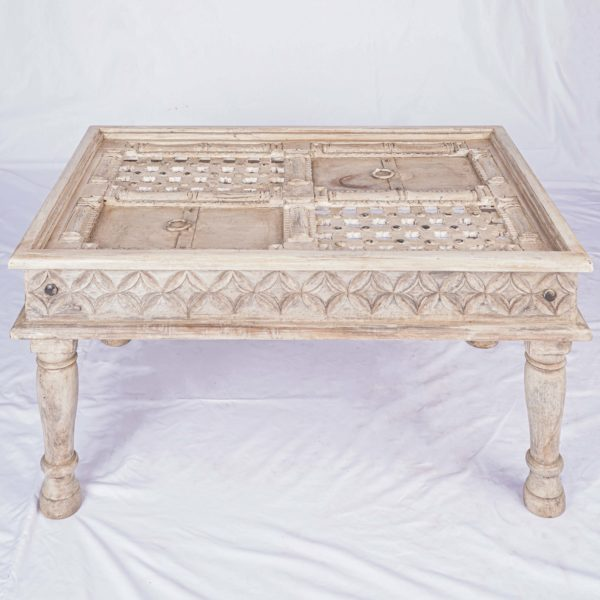 Home Furniture Hand Carved Wooden Coffee Table