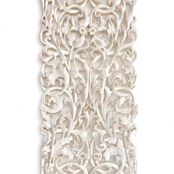 Thai wood carving wall hanging whitewash color 600x600 - Thai Wood Carving Wall Art Hanging